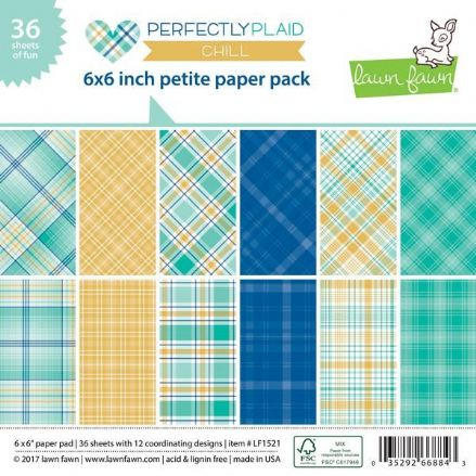 LF1521 ~ PERFECTLY PLAID - Chill ~ 6X6 PAPER PACK BY LAWN FAWN